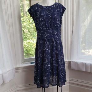 eShakti Cat & Moon Dress